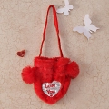 Heart Shape Bag Soft Fur Handbag : Heart Shape Soft Toys