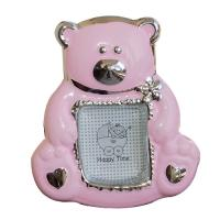 Pink Color Teddy Photo Frame