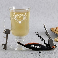 Beer Glass with Bottle Opener