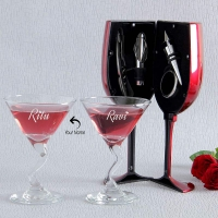 Two Fabulous Personalized Wine Glasses