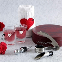 Personalized Shot Glasses with Hand towel