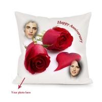 Anniversary Satin Square Pillow 123
