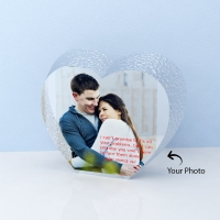 Adorable Personalized Heart Shape Crystal