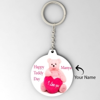 Round Shape Key Chain Personalized with Name