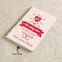 Adorable Notebook Personalized with Two Names