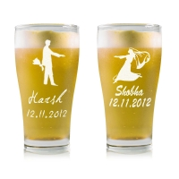 Cant live without you - stylish beer glass