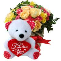 Roses Beary Basket