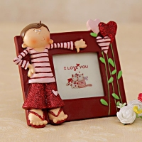 I Love You Photo Frame with Boy