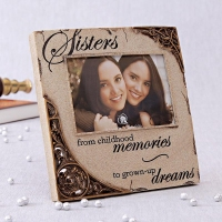 Ceramic Photo Frame for Sisters