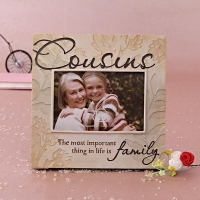Ceramic Photo Frame with Family Quotation