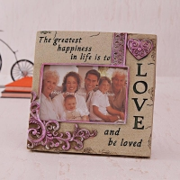 Ceramic Photo Frame with Love Quotation