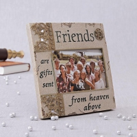 Ceramic Photo Frame with Friends Quotation