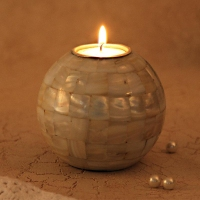 Round Shell Candle Holder