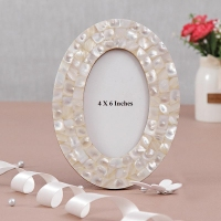 Shell Art Oval Photo Frame