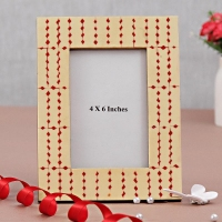 Red & White Border Frame
