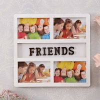 4 in 1 FRIENDS White Frame