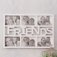 6 in 1 FRIENDS COLLAGE White Frame