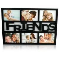 6 in 1 FRIENDS COLLAGE Black Frame
