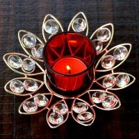 Red Crystal Votive Stand